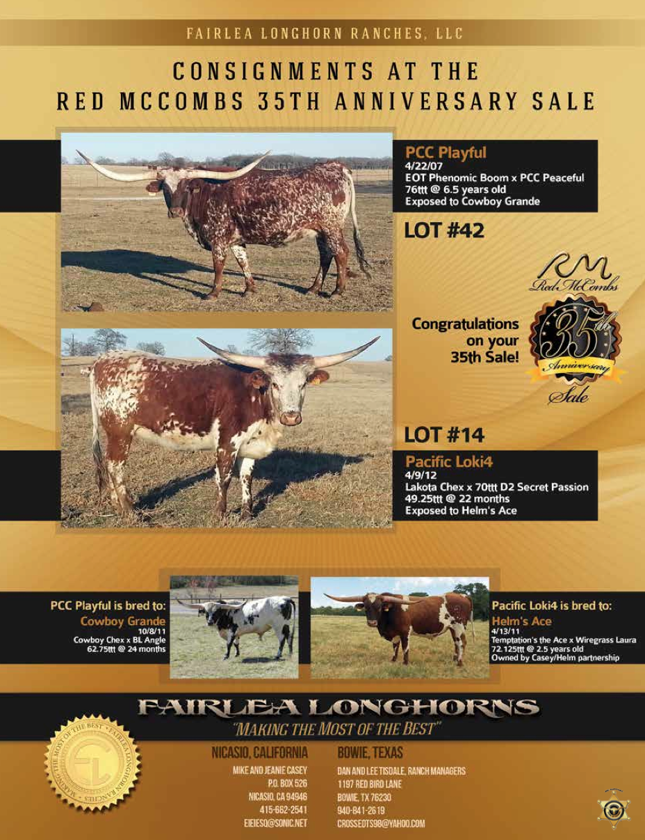 fairlea longhorns ad