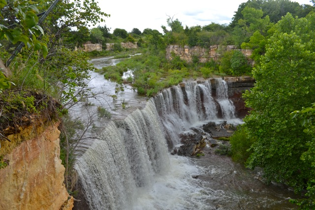 Flint Hills waterfall Website