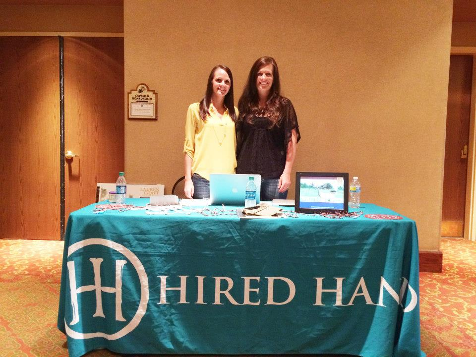 Molly and Jaymie at the Hired Hand booth.
