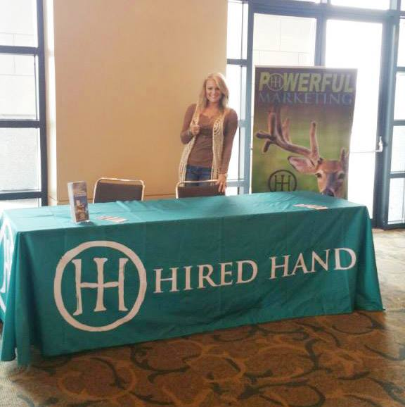 Brittney at the Hired Hand Booth.
