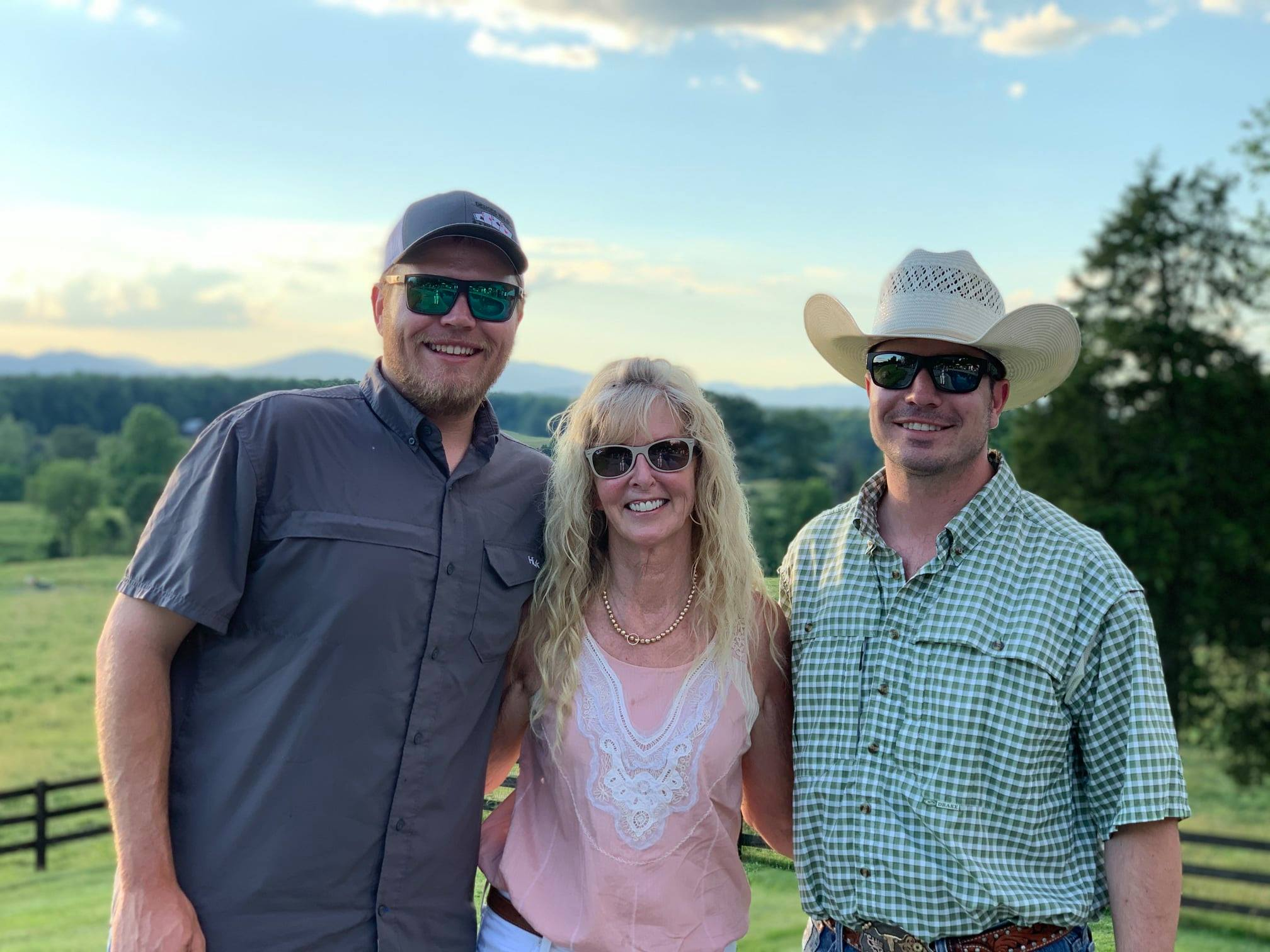 Sale Hosts and Hired Hand customers Chase Vasut, Rockin AF Ranch; Ann Gravett, G&G Longhorns and Bear Davidson, G&G Longhorns and Eastwind Cattle