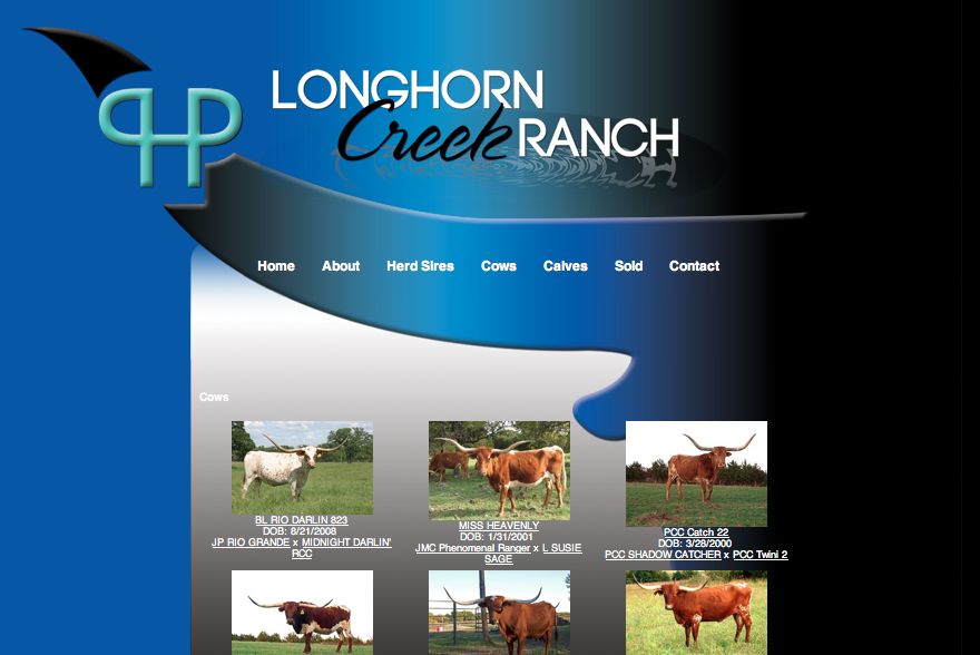 Cow page of site