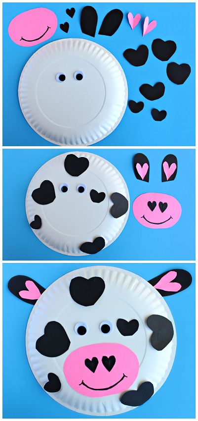 Cow paper plate