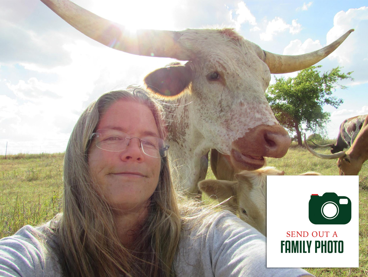 family photo from Commanders Place Longhorns