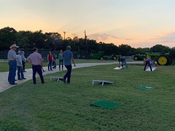 Fun and games during the Friday night social — at Struthoff Ranch.