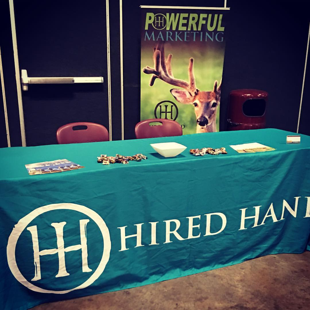 Hired Hand booth