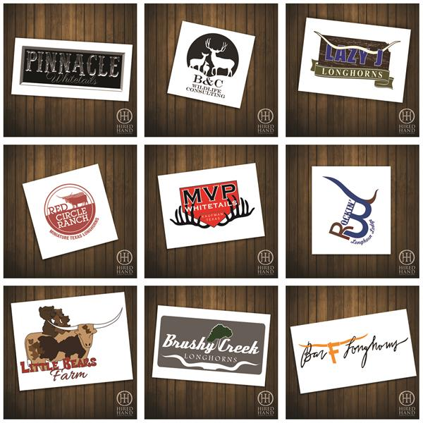 Hired Hand designed logos