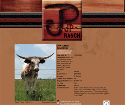JP Ranch Animal