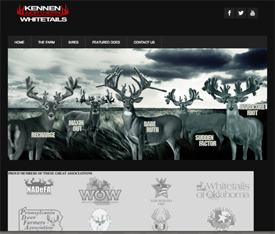Kennen Whitetails home page