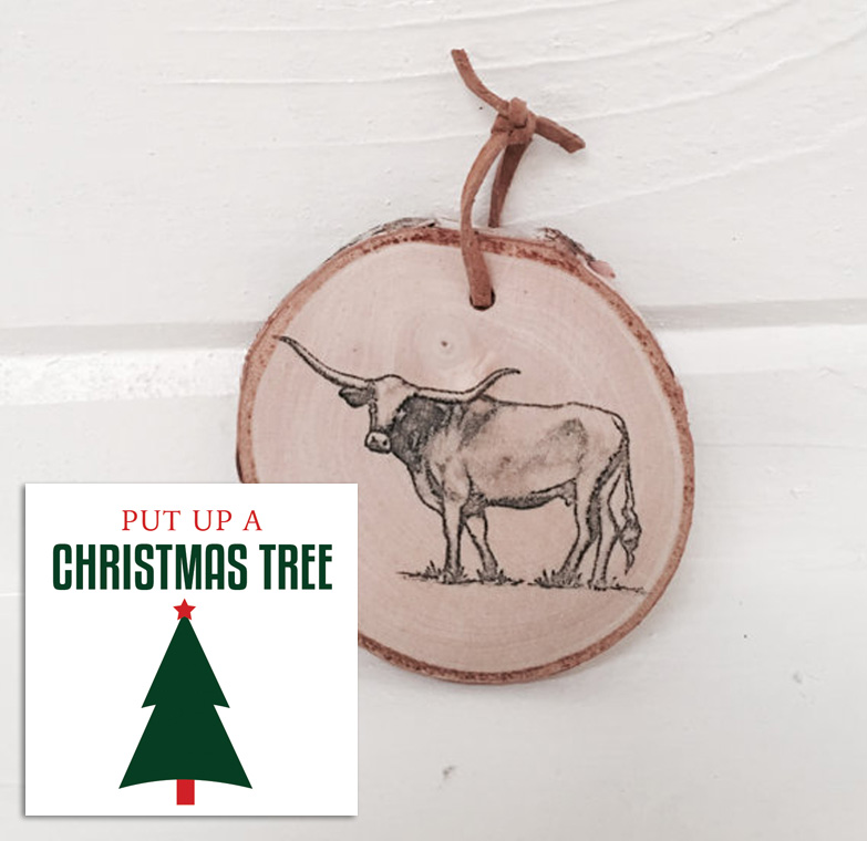 Longhorn Ornament