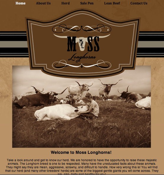 Moss Longhorns page
