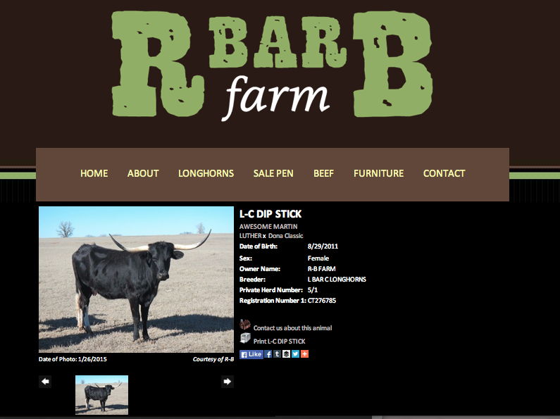 R Bar B Farm Animal