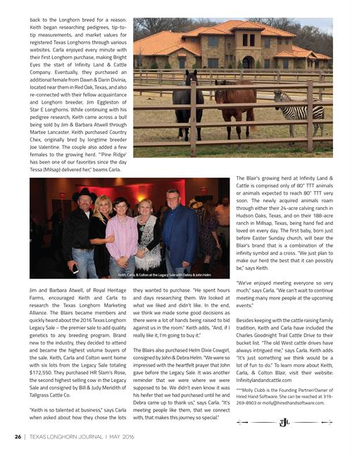 Texas Longhorn Journal page