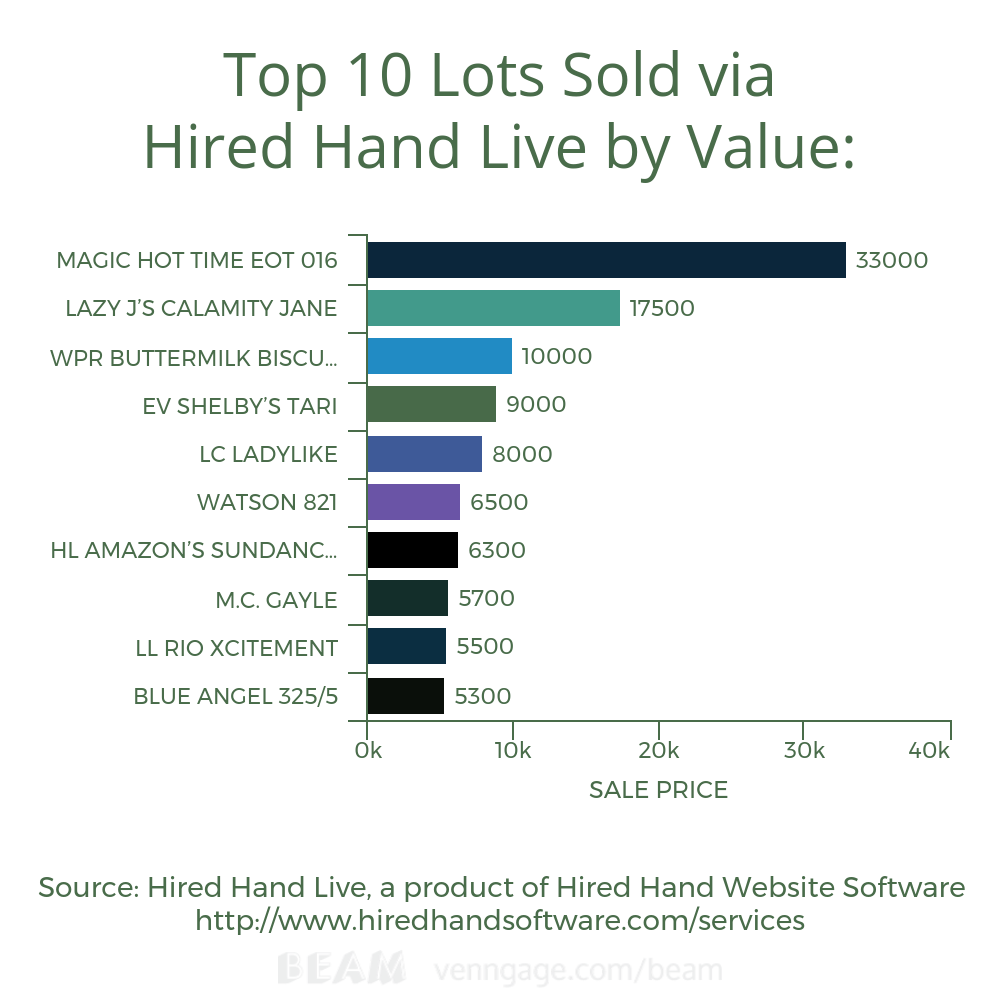 Top 10 Lots Sold via HHL by Value